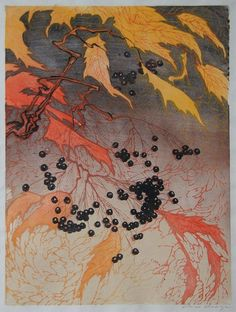 ✨ Paul Oscar Droege (1898-1983) - Farbholzschnitt, signiert, 35 x 46,5 cm ::: Colour Woodcut