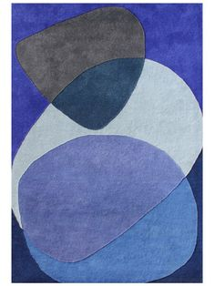 Shades of Blue Hand-Tufted Rug by Horizon Rugs on Gilt Home