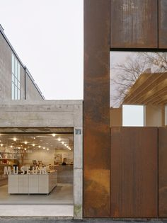 A rusted steel museum extension in Lund, Sweden designed by Elding Oscarson