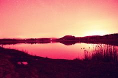 Pond in the night by Adéla Kosová on Pond, Celestial, Sunset, Night, Photography, Outdoor, Sunsets, Outdoors, Water Pond