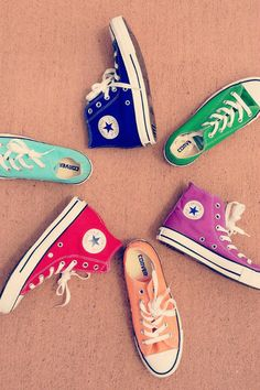 Converse Chuck Taylor All Star High Top Sneaker I have 4 pairs of chucks witch aren't any of these colors ! i must invest in a new pair ! Converse All Star, Mode Converse, Rainbow Converse, All Star Shoes, Converse Sneakers, Converse Chuck Taylor All Star, Chuck Taylor Sneakers, Cheap Converse, Colored Converse