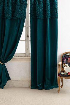 Braided Velvet Curtain - anthropologie.com #anthrofave
