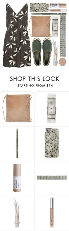 """deep in green"" by foundlostme ❤ liked on Polyvore featuring The Row, DKNY, Stila, Casetify, Wandschappen, Trish McEvoy, Chantecaille, floral and easypeasy"