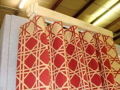 ripplefold drapery   Ripplefold drapery on a custom painted, square, routed pole rod.
