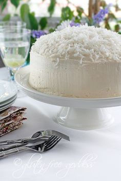Gluten-free Coconut Layer Cake by @Karina Allrich at Gluten-Free Goddess