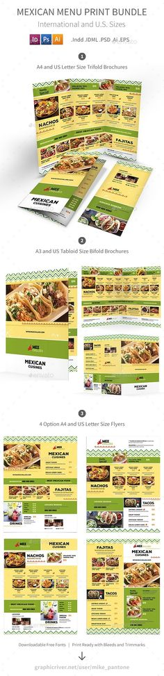 50 best mexican restaurant menu templates images on pinterest in