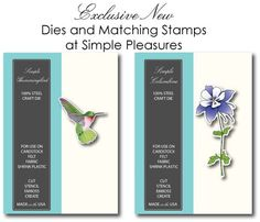 Exclusive Memory Box Columbine and Hummingbird dies with matching stamps