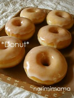 Glazed Doughnuts (Yeast Doughnuts) Recipe - Yummy this dish is very delicous. Let's make Glazed Doughnuts (Yeast Doughnuts) in your home! Donut Recipes, Sweets Recipes, Biscuits, Donut Decorations, Types Of Bread, Home Bakery, Doughnuts, Love Food, Great Recipes