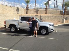 LIONEL  AND SIBONEY's new 2016 CHEVROLET COLORADO! Congratulations and best wishes from Findlay Motor Company and Lane Mathews.