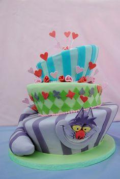 Mad Hatter Alice in Wonderland cake By fortheloveofcake11 on CakeCentral.com