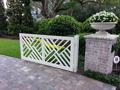 Wrought Iron Gates, Fences   Orlando, Tampa. I really like this Chippendale style gate. Very pretty, classic and different.