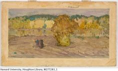 Landscape: landscape in Finland   Creator:	Bakst, Leon   Date:	n.d.   http://via.lib.harvard.edu/via/deliver/deepLink?_collection=via=olvwork277283