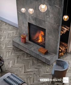 wood effect tiles, suitable for wet rooms, bathrooms, kitchens, outdoor. LIVING TORTORA in herringbone pattern. Wood Effect Porcelain Tiles, Wood Effect Tiles, Wood Look Tile, Home Fireplace, Fireplace Design, Modern Fireplace Tiles, Tiled Fireplace Wall, Fireplaces, Foyer Mural