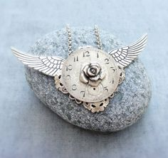 Time Flies - Altered Steampunk Necklace