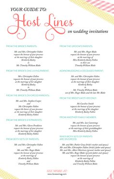 a complete guide to host lines on #wedding invitations!