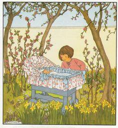 Rie Cramer Het jaar rond editie 1978, ill het nieuwe kindje | by janwillemsen