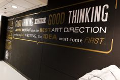 Good thinking typography wall graphics famous quotes and text on the wall