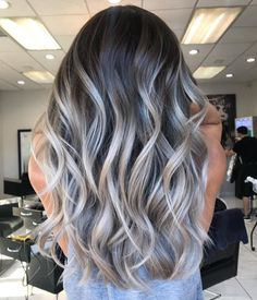 Ash Gray: 2019 neutral color of the year (pin now, read later! - - Ash Gray: 2019 neutral color of the year (pin now, read later!) – Elm Drive Designs Make DIY Shampoo at Home Shampoo Hair at Home Tips DIY Tutorial Da. Ash Gray Hair Color, Grey Blonde Hair, Ombre Hair Color, Hair Color Balayage, Cool Hair Color, Gray Ombre, Ash Gray Balayage, Ash Ombre Hair, Gray Color