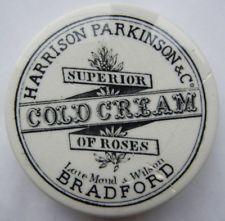 Harrison Parkinson Bradford Cold Cream pot lid  c1890's A/F