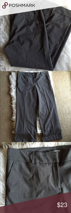 🆕 NY + Co gray slacks Super cute! Petite length. Polyester, rayon and spandex  so they have some stretch. 👺NO TRADES DONT ASK! ✌🏼️Transactions through posh only!  😻 friendly home 💃🏼 if you ask a question about an item, please be ready to purchase (serious buyers only) ❤️Color may vary in person! 💗⭐️Bundles of 5+ LISTINGS are 5️⃣0️⃣% off! ⭐️buyer pays extra shipping if likely to be over 5 lbs 🙋thanks for looking! New York & Company Pants Trousers