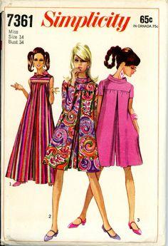 Simplicity 7361 Misses 1960s Jumpsuit Pant-dress Pattern