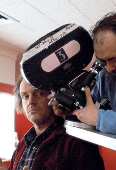 Jack Nicholson & Stanley Kubrick on set of 'The Shining' (1980)