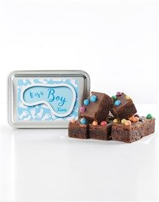 Tasty brownies for any occasion. Netflorist offers a range of scrumptious brownies online. Best Baby Gifts, Personalized Baby Gifts, New Parents, Baby Names, Brownies, Bakery, Baby Boy, Amazing, Desserts