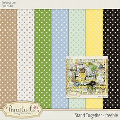 Quality DigiScrap Freebies: Stand Together paper pack freebie from Ponytails Digital Designs