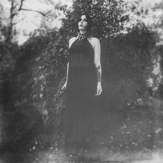Chelsea Wolfe, wearing Ovate Lorretine gown, photographed by Krist Mort.