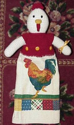 crochet rooster free patterns | Free Crochet Patterns Plastic Bag Holder images