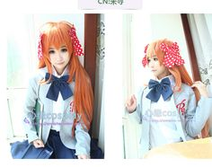 Anime Gekkan Shoujo Nozaki-kun SAKURA CHIYO Cosplay costume shoes loliat school girls uniform wig bow set