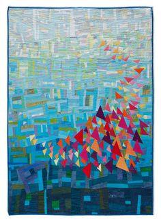 Art quilt by Cecilia Koppmann (Uruguay).  http://patchworkycia.blogspot.com/