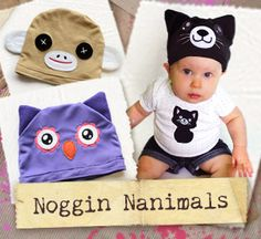 Noggin Nanimals (Applique) (Design Pack) design (UTP1365) from UrbanThreads.com