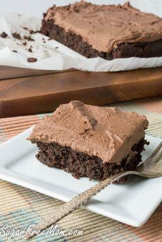 SUGAR FREE LOW CARB CHOCOLATE CRAZY CAKE (EGG FREE, DAIRY FREE, NUT FREE, GLUTEN FREE)