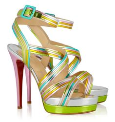 Louboutin makes me want to spend the weekend in Miami...One of my favorite heels by Louboutin!!! <3 <3