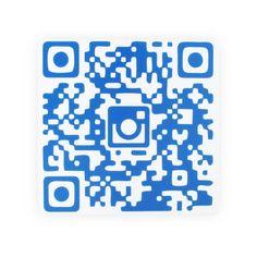 Placa QR Code Instagram
