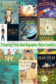 books - 21 Inspiring Biographies for Kids Nature Scientists Childhood 101 Science Books, Science For Kids, Science Activities, Experiment, Poster Festival, Homeschool Books, Homeschooling, Kindergarten, Mentor Texts