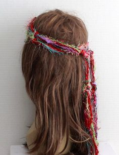 GOLD /& WHITE BRAIDED HIPPIE HALO HEADBAND HANDMADE MADE IN USA YOU PICK SIZE 1