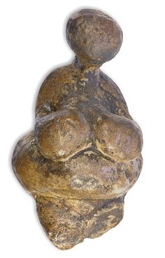 Venus from Gagarino. Ancient goddess figurine from Gagarino, Lipetsk region, 5 km north of Sosna-Don river junction, Russia. This venus statue has some remarkable similarity to the venus from Willendorf, Austria. Own cast.