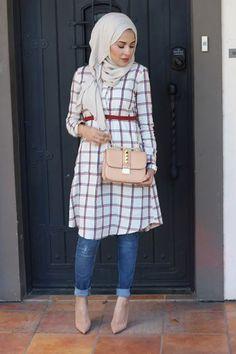 Hijab Outfit Ideas 2018 for stylish women - Fashion Modest Fashion Hijab, Casual Hijab Outfit, Pakistani Fashion Casual, Muslim Women Fashion, Islamic Fashion, Eid Outfits, Fashion Outfits, Fashion Ideas, Hijab Fashionista