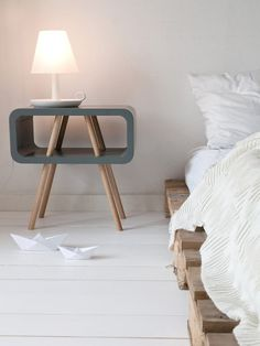 Present Time Leitmotiv Wooden Open Minded Side Table @ Black By Design