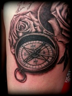 Rosses compass tattoo