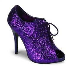 652097b212bc Pleaser Bordello - Purple Glitter - 4 Inch Heel