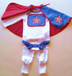 Super Cool, Super Hero Baby Costume, cotton cape, onesie and leggings :) Etsy Happy Holidays