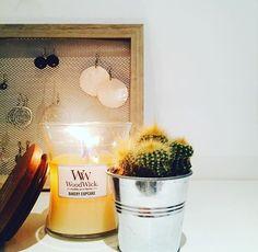 Douce soirée auprès de votre bougie parfumée WoodWick avec sa mèche en bois qui crépite... ☺️🔥🌳( 📷 @miloche56) ・・・ #homesweethome #home #bougie #candle #bijoux #earrings #portebijoux #diy #woodwick #deco #decoration #madecoamoi #cactus #homesweethome #bakery #cupcakes #candle #bougie #bougieparfumee