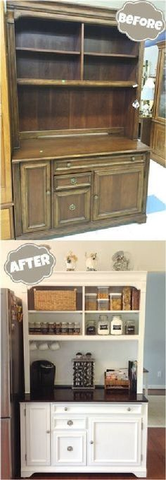Most Beautiful Antique China Cabinet Makeover Ideas (54)