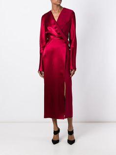 Dion Lee wrap effect dress Kimono Dress, Silk Dress, Dress Up, Dress Outfits, Fashion Outfits, Designer Party Dresses, Elegant Outfit, Satin Dresses, Dress To Impress