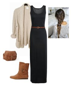 Fall Maxi Dress Outfit by apostolicgirl85 on Polyvore featuring polyvore, fashion, style, Charlotte Russe, Forever 21 and clothing