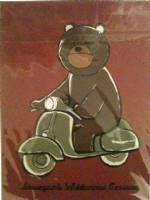 Titus on  a moped print from IWG Rocket World