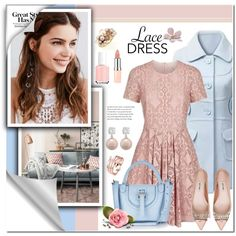 A fashion look from March 2016 by anyasdesigns featuring Burberry, Miu Miu, Meli Melo, Mimà , REGALROSE, Rimmel, Essie and lacedress